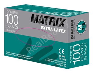 Matrix Extra Latex M (100шт.)  размер M (7-8)